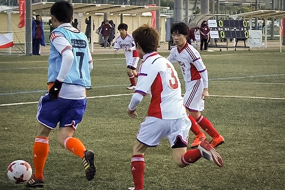 Hibiki Yashiro, a soccer player under the Unified program for Special Olympics Asia Pacific, in Japan